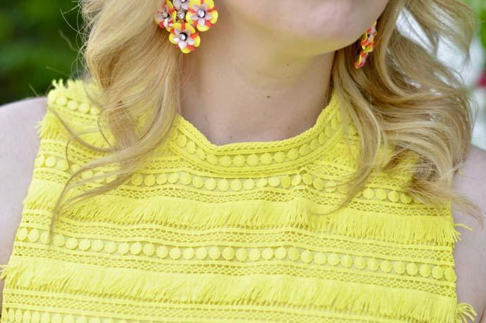 Dress with Fringe Lace Details
