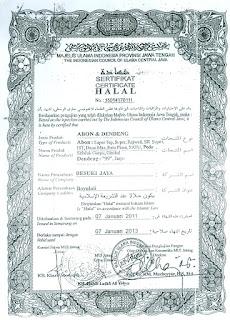Sertifikat halal, abon halal, abon sertifikat halal, abon halal