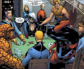 Spidey and the FF having a card game