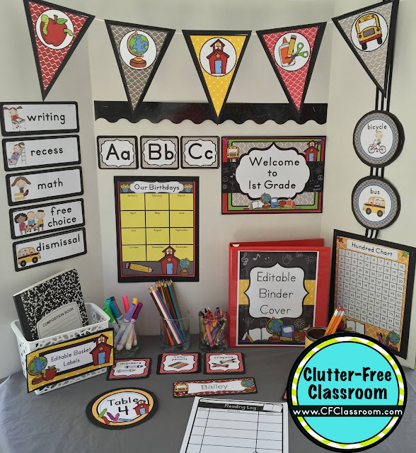 Are you planning a chalkboard themed classroom or thematic unit? This blog post provides great decoration tips and ideas for the best chalkboard theme yet! It has photos, ideas, supplies & printable classroom decor to will make set up easy and affordable. You can create a chalkboard theme on a budget!