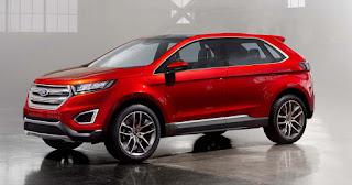 2017 Ford Kuga facelift red color