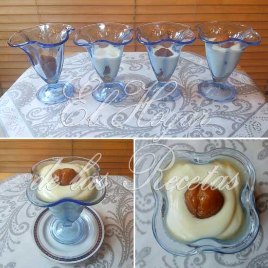 Crema de Limón con Castañas en Almíbar