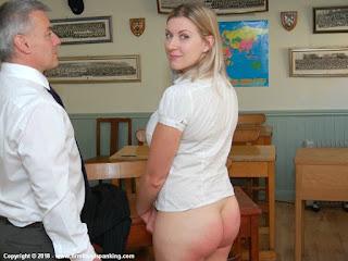 Bottom hand spankng Bare