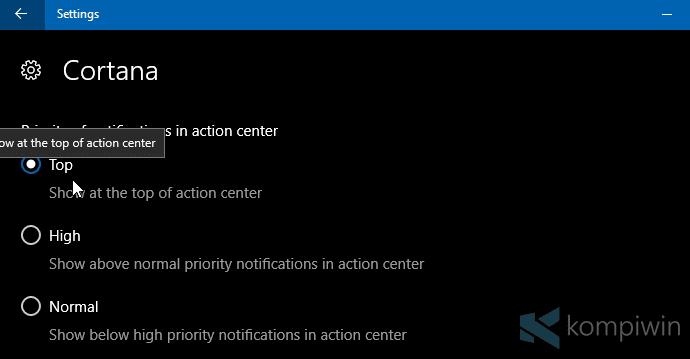 Cara Ubah Prioritas Notifikasi Aplikasi di Action Center 19