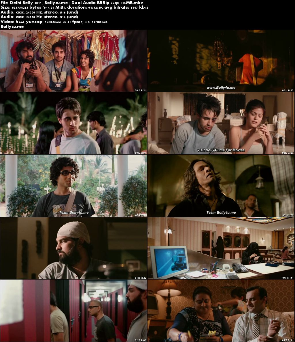 Delhi Belly 2011 BluRay 350Mb Hindi Dual Audio 480p Download