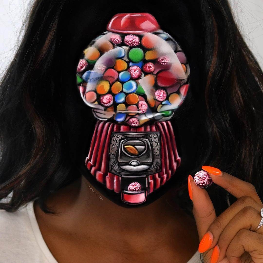 09-Gumball-Machine-RJ-Tulloch-3D-Makeup-Illusions-Body-Painting-www-designstack-co