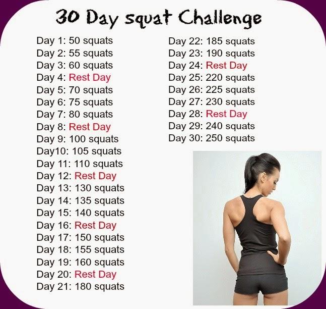 RStephensArt: 30 Day Squat Challenge Results