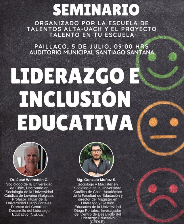Seminario de liderazgo e inclusión educativa