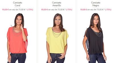 Camisetas mujer colores