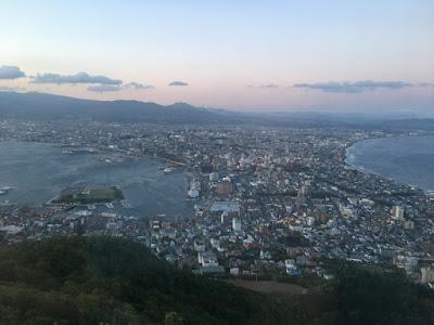 日没時刻の函館