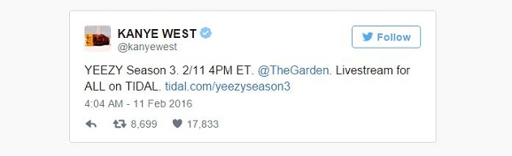 Yeezy Season Approaches As periodic event Scores Stream Of Kanye's Fashion Show Concert