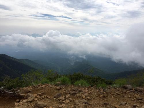 海ノ口、野辺山、清里側は雲の下