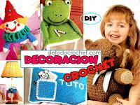 Revista con manualidades para niños a crochet