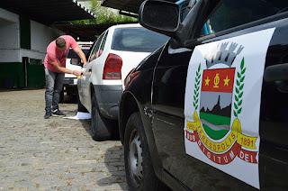Governo Municipal de Teresópolis adesiva frota oficial para maior controle