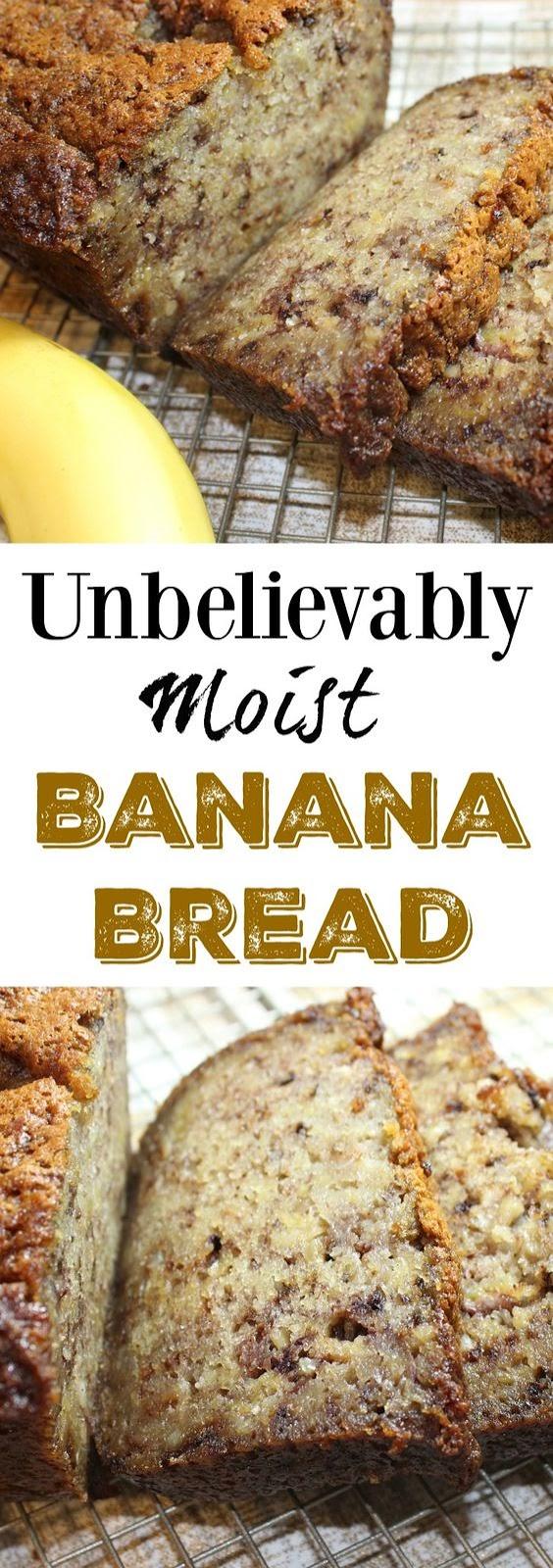 Unbelievably Moist Banana Bread for Dessert