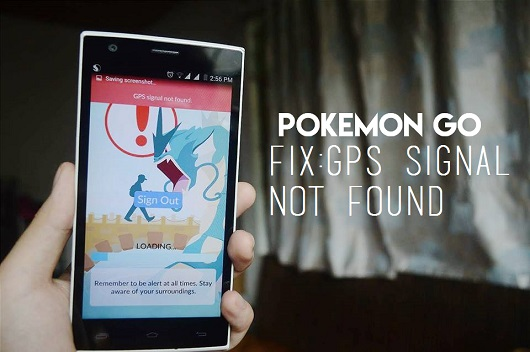 pokemon go error bug fix gps signal not found