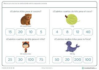 Fichas de ejercicios de matemática para quinto de educación primaria 3