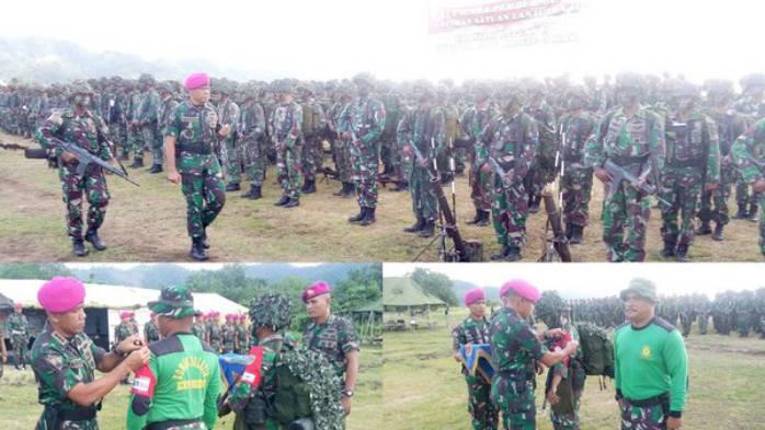 1000 Prajurit Brigif-3 Marinir Lakukan Latihan TW III