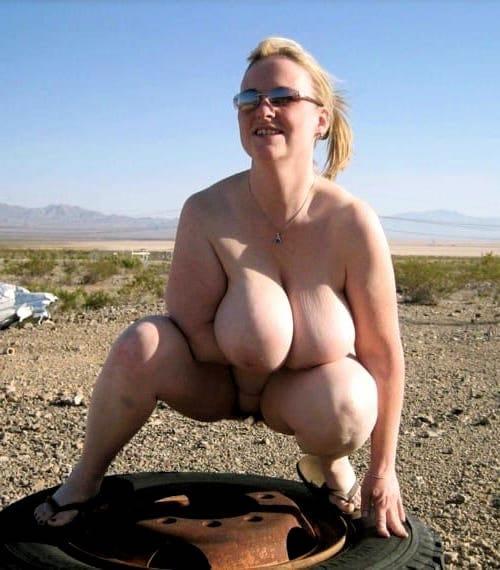 dicke Euter Brüste nackt