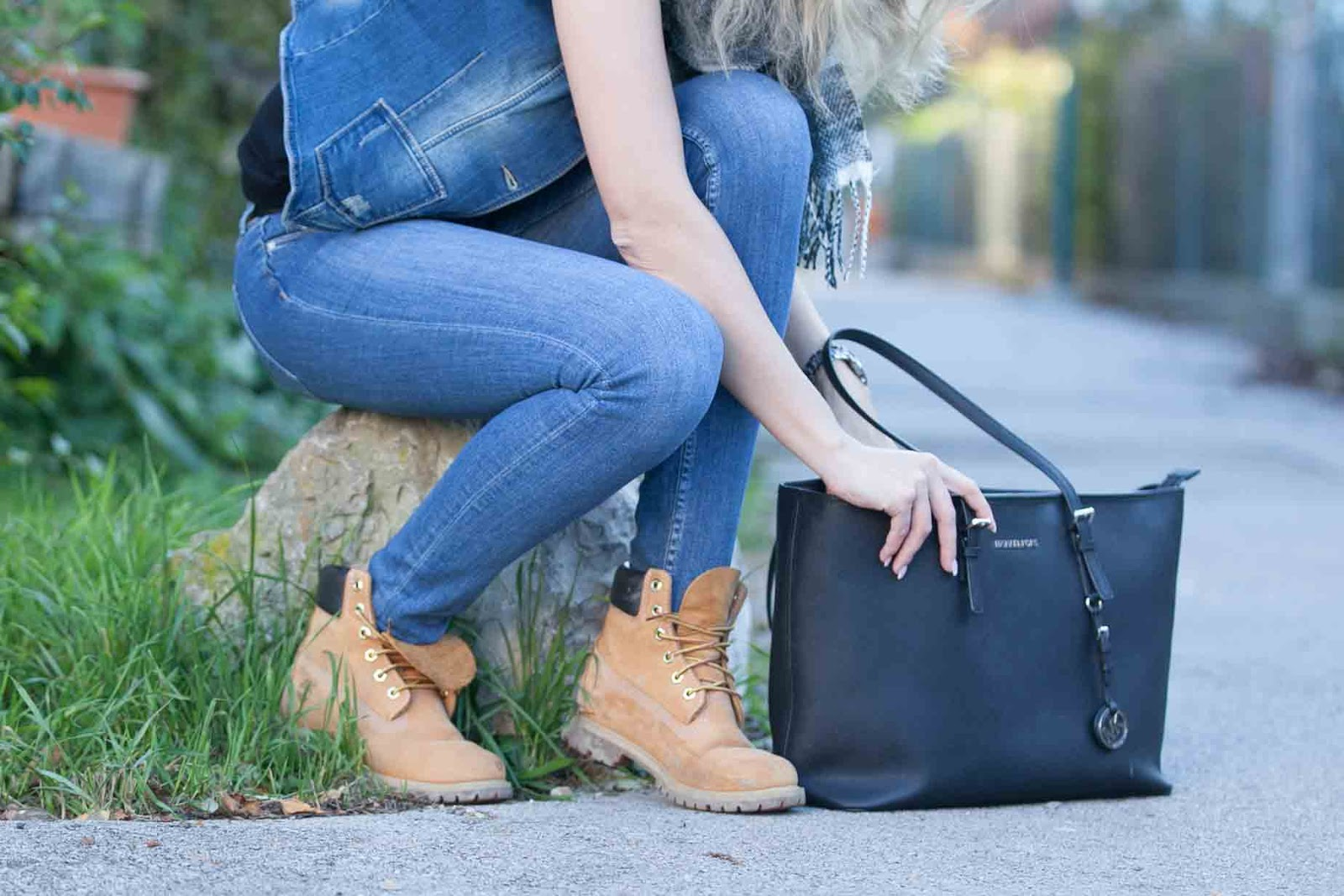 denim in fall Details Michael Kors Jetset Timberland Boots
