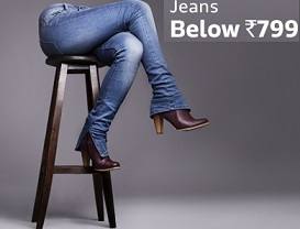 Women's Jeans & Trousers below Rs.799 (Upto 75% Off) @ Flipkart