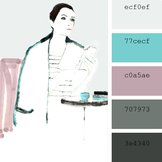 pantone color of the day, keepsake lilac color palette