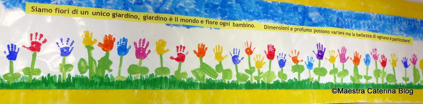 Maestra caterina cartellone per accoglienza for Addobbi scuola infanzia accoglienza