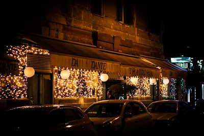 External of Ristorante Da Dante in Rome, Italy