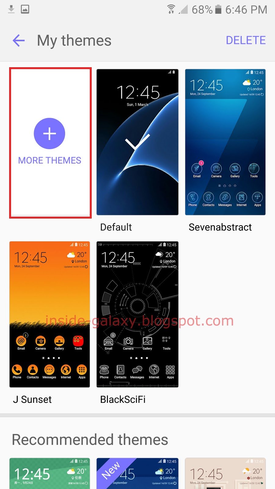 samsung galaxy s7 edge how to change themes in android 6 0 1