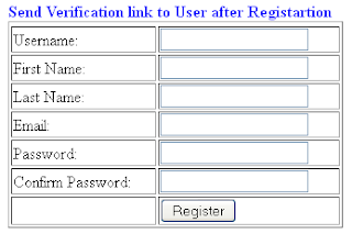 Send an Email with Verification link