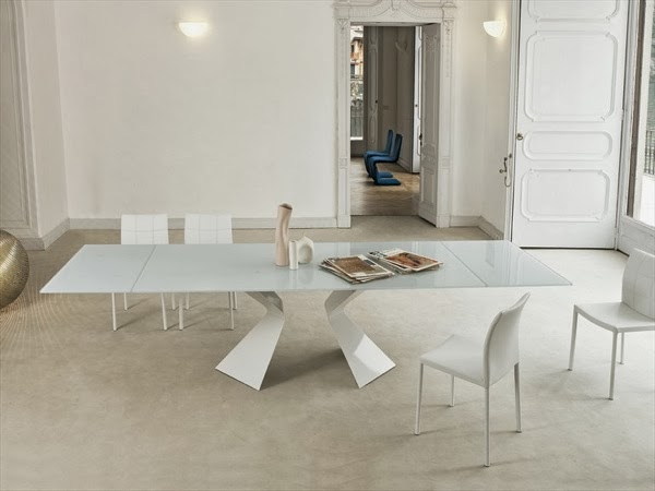 Diseño de comedor blanco