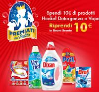 Logo Con Henkel Detergenza e Vape Spendi e Riprendi 10€ in buoni sconto