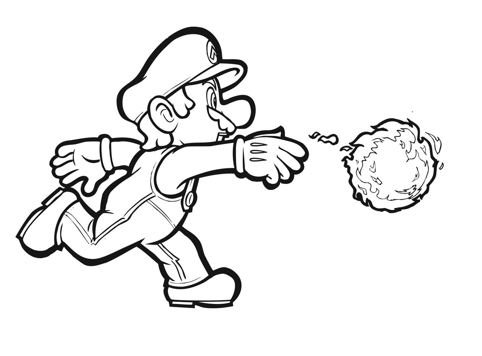 Mario Bros Coloring Pages Free
