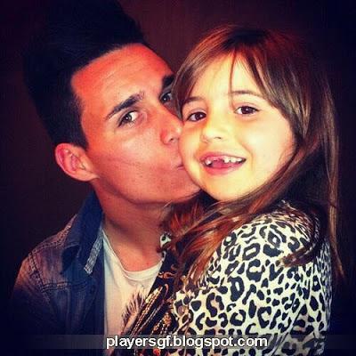 José María Callejón and his Daughter