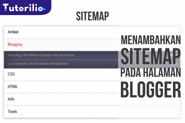 Menambahkan sitemap respinsive untuk halaman statis pada blogger
