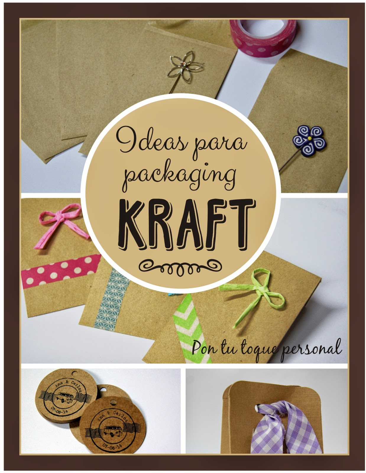 Ideas para packaging de boda con estilo kraft