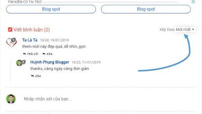 Thêm tính năng sắp xếp bình luận mới nhất, cũ nhất cho blogspot