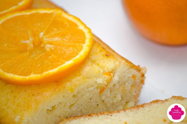 Cake à l'orange imbibé sans gluten