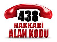 0438 Hakkari telefon alan kodu