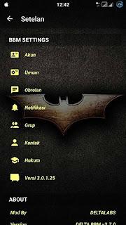 Download BBM MOD Delta Batman v3.0.1.25 Apk Terbaru