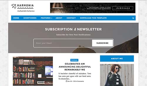 Free Harmonia Blogger Template download