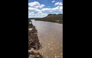 Águas do São Francisco se encontram com volume do açude Epitácio Pessoa; veja vídeo
