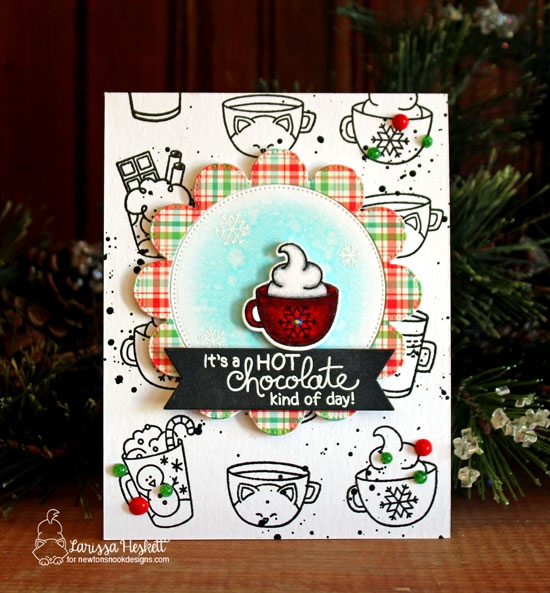 A Hot Chocolate Kind of Card by Larissa Heskett | Cup of Cocoa Stamp Set by Newton's Nook Designs #newtonsnook #handmade