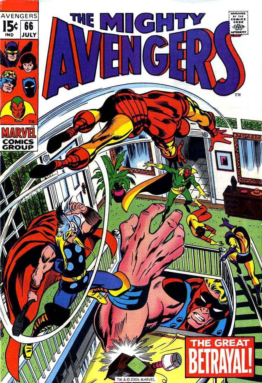 Avengers v1 #66 marvel comic book cover art by Barry Windsor Smith