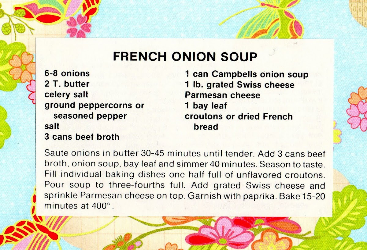 French Onion Soup (quick recipe)