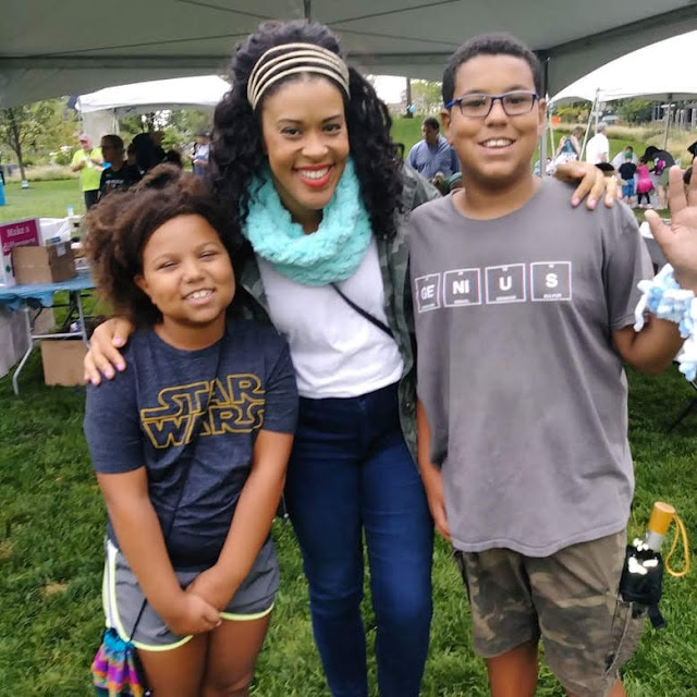 My kids with Amber Kemp-Gerstel from NBC's Making It and Damask Love