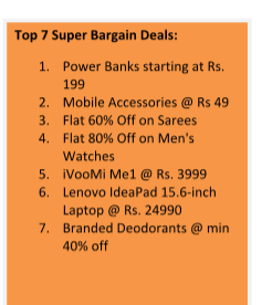 Shopclues Announces Super Bargain Sale From 8th July to 16th July