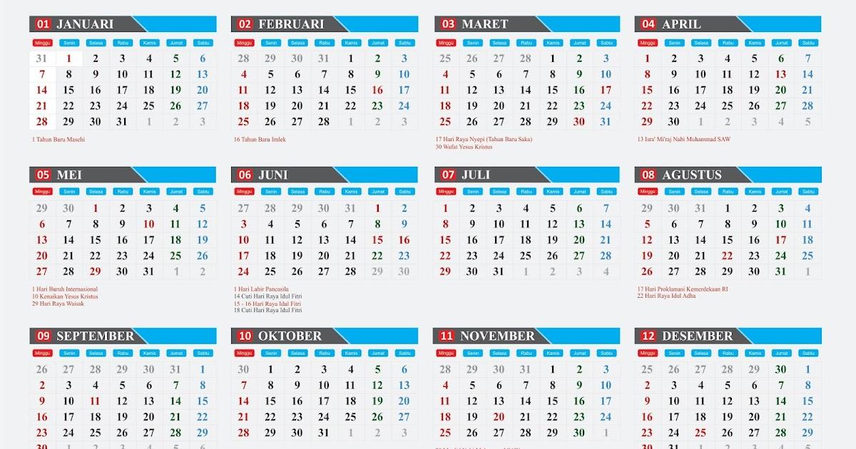 38+ Konsep Download Desain Kalender Format Cdr, Desain ...