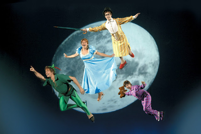 Disney on Ice presents Passport to Adventure at Manchester Arena - Review Peter Pan Wendy John Michael Darling Flying