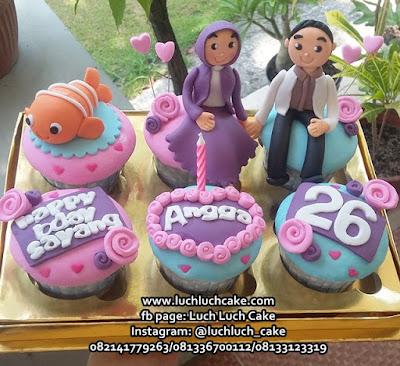Cupcake Ulang Tahun Tema Ikan Nemo